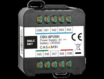 Dimmer LED Dalcnet CBU-8PUSH per applicazioni CASAMBI